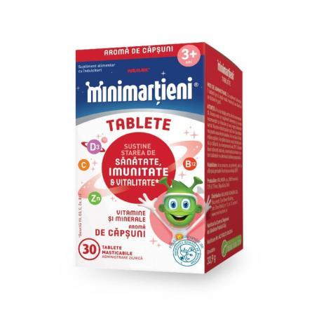 Minimartieni Imunactiv, aroma de capsuni 30 tablete, Walmark