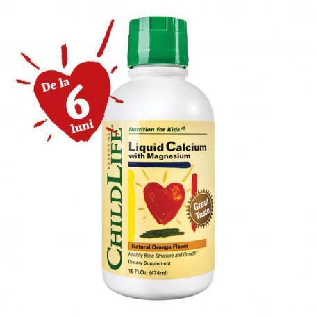 Calcium With Magnesium, 474 ml (pret, prospect) Secom (Childlife Essentials)