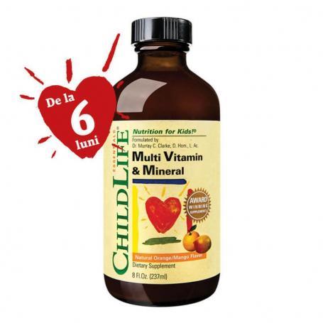 Multi Vitamine si Minerale sirop - Childlife Essentials, 237 ml, Secom