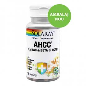 AHCC Plus Nac Beta Glucan, 30 tablete, Secom (Solaray)