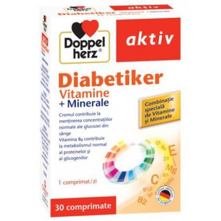 Diabetiker, Vitamine si Minerale pentru diabetici, 30 comprimate, Doppelherz