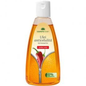 Ulei anticelulitic cu extract de ardei iute, 200 ml, Cosmetic Plant