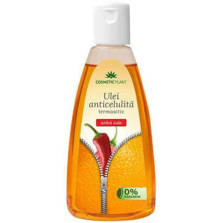 Ulei anticelulitic cu extract de ardei iute, 200 ml, Cosmetic Plant
