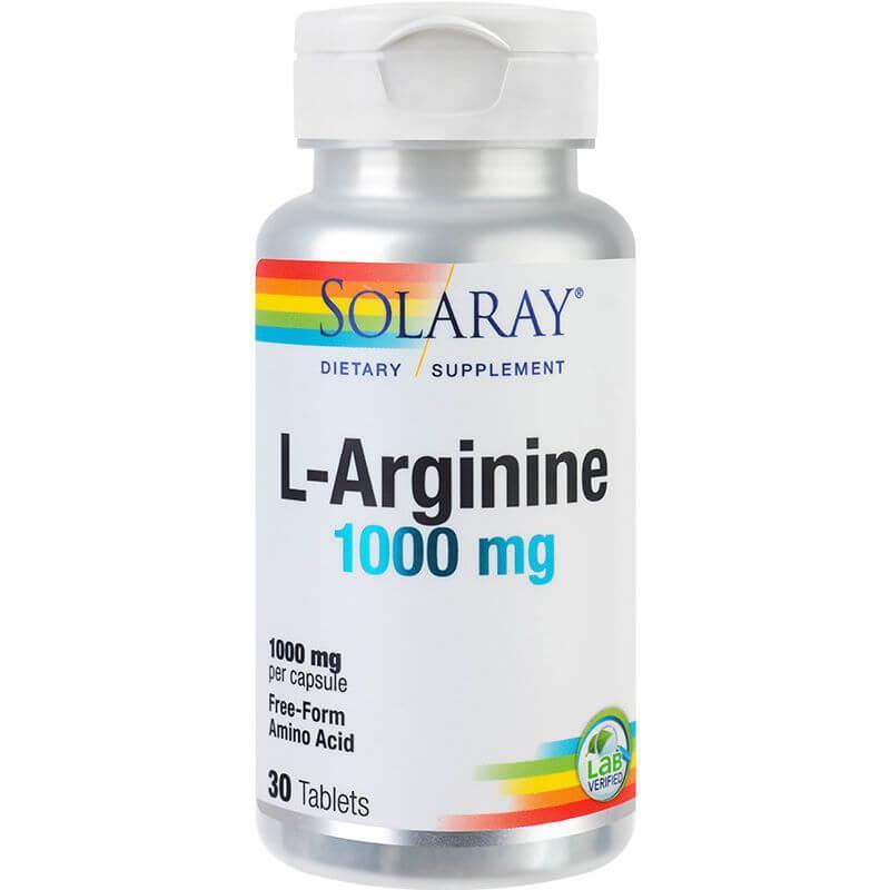 L-Arginine 1000 mg,30 tablete, Solaray (Secom)