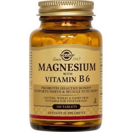 Magneziu cu Vitamina B6, 100 tablete, Solgar