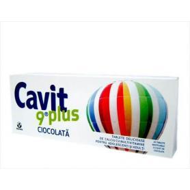 Cavit 9 plus Ciocolata, 20 tablete, Biofarm