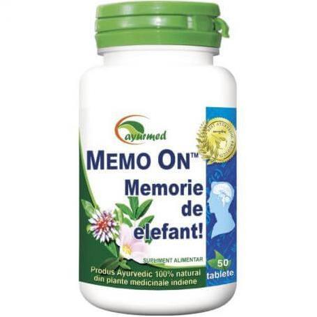 Memo On, 50 tablete, Ayurmed