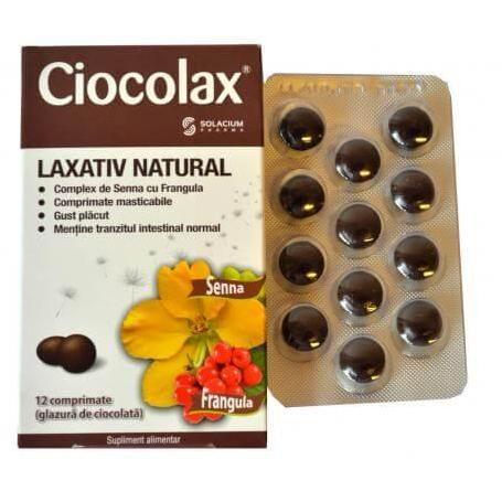 Ciocolax, laxativ natural, 12 comprimate