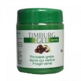 Timburg gel verde de masaj, picioare grele, varice, 500 ml