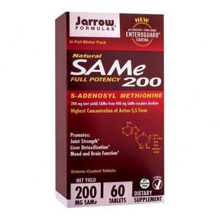 SAM-e 200 mg, 60 tablete, Secom (Jarrow Formulas)