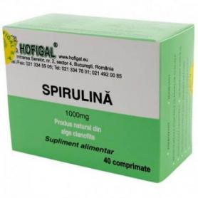 Spirulina 1000 mg, 40 comprimate, Hofigal