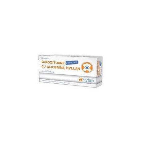 Supozitoare cu glicerina pentru adulti, 2500 mg, 12 buc, Hyllan Pharma