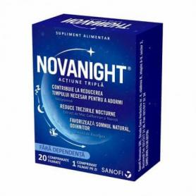 Novanight, 20 comprimate, pentru insomnie - tulburari de somn