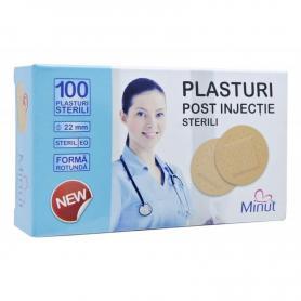 Plasturi rotunzi (post injectie, recoltare) 22 mm, 100 buc