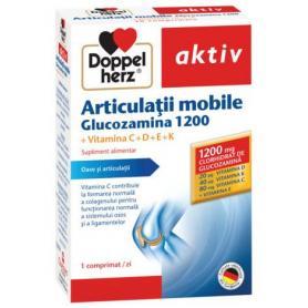 Doppelherz Articulatii mobile Glucozamina 1200, Vitaminele CDEK, 30 comprimate