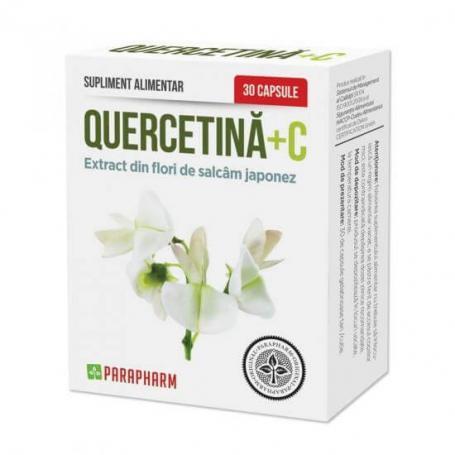 QUERCETINA + VITAMINA C, 30 CPS, PARAPHARM