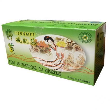 Ceai antiadipos cu Ginseng de slabit,China, 30 plicuri
