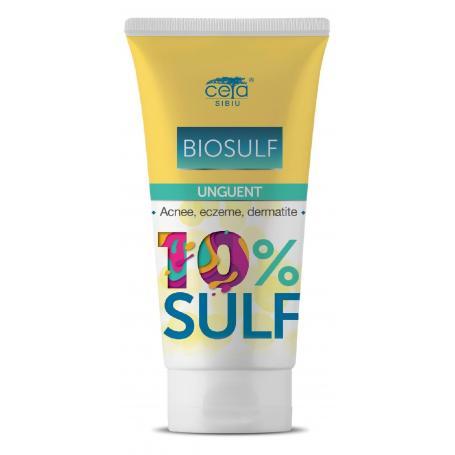 Unguent cu sulf 10% (Biosulf), 50 ml, Ceta Sibiu