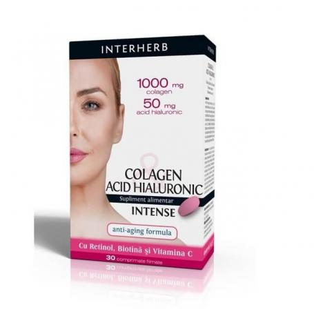 Colagen si Acid Hialuronic Intense - Interherb